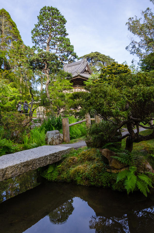 Japanese Tea Garden in San Francisco. The Japanese Tea Garden in San Francisco, California, is a popular feature of Golden Gate Park, originally built as part of stock photography