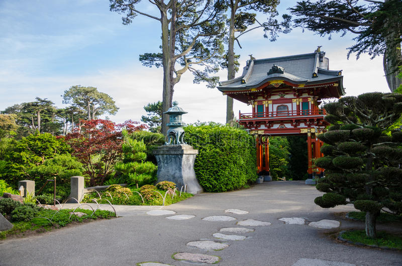 Japanese Tea Garden in San Francisco. The Japanese Tea Garden in San Francisco, California, is a popular feature of Golden Gate Park, originally built as part of stock images