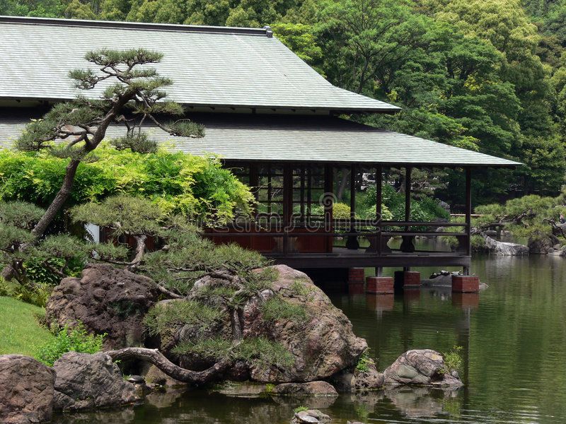Download Japanese tea house stock photo. Image of garden, house - 917200