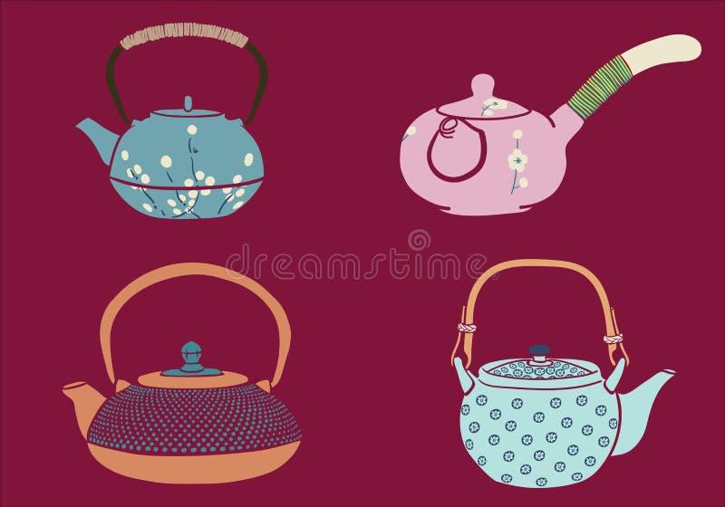 Download Japanese Teapot stock vector. Illustration of ceramic - 90789164
