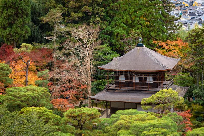Japanese templae and zen garden in Kyoto,Japan stock photo