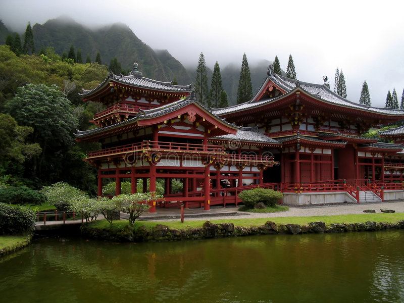Download Japanese Temple stock image. Image of green, peaceful, water - 186853