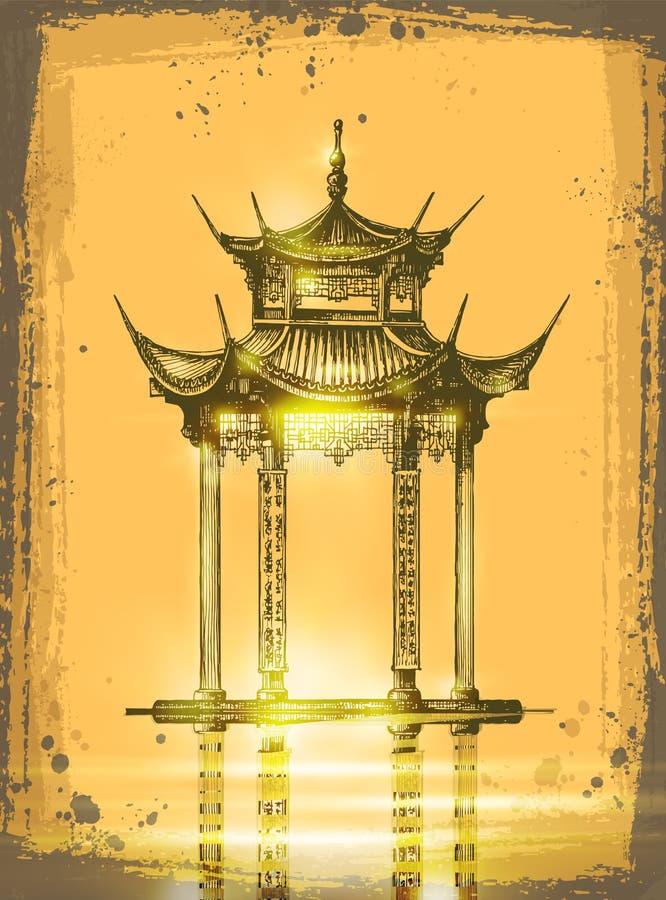 japanese temple бесплатная иллюстрация