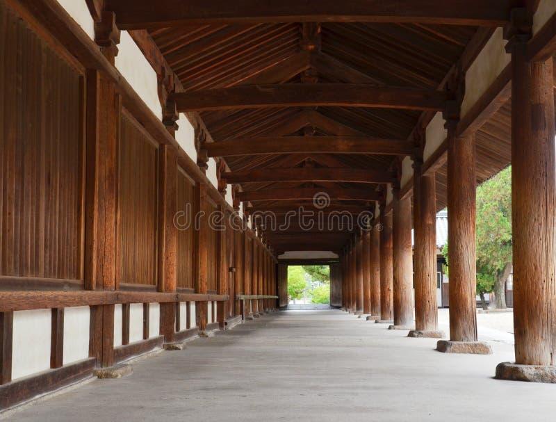 Japanese temple corridor stock image