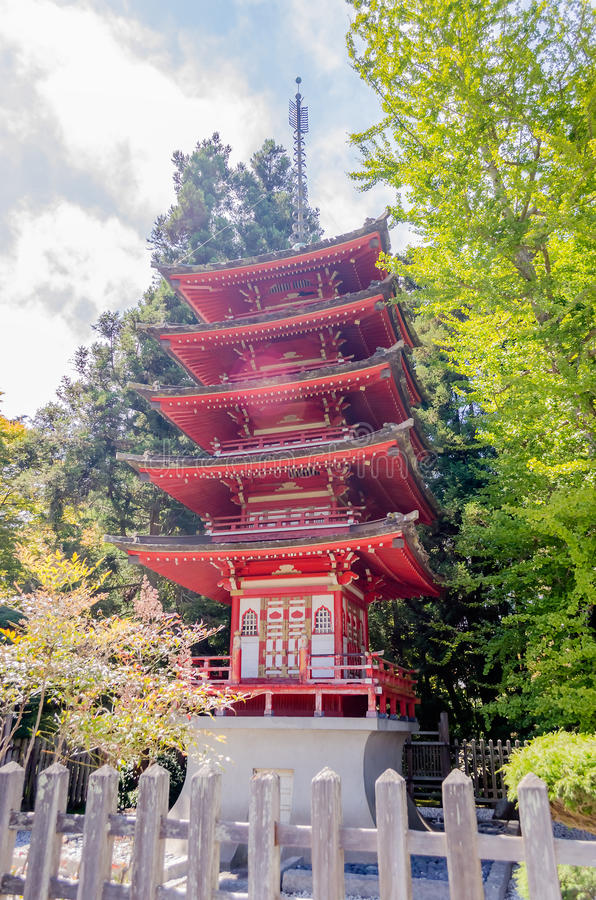 Free Japanese Temple In The Japanese Tea Garden, San Francisco, USA Stock Images - 53681654
