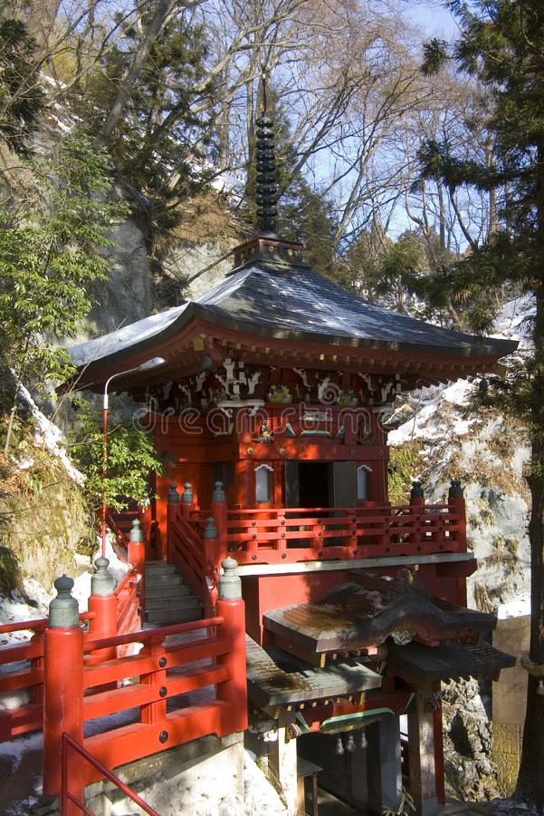 Free Japanese Temple In Winter Stock Photography - 1481992