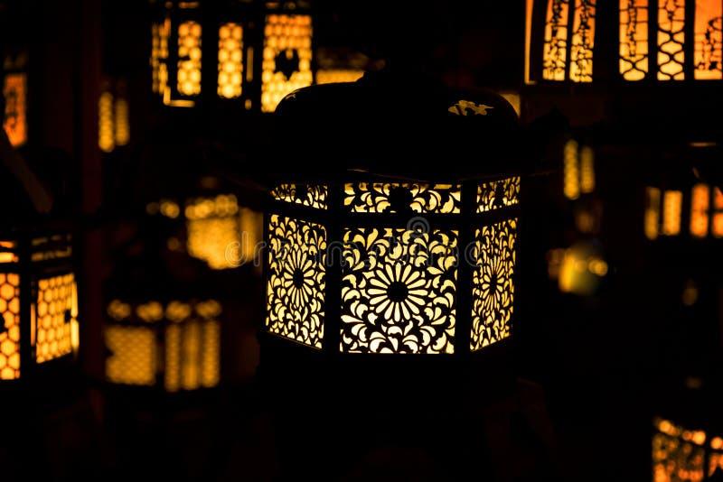 Japanese Temple Lanterns. stock photos