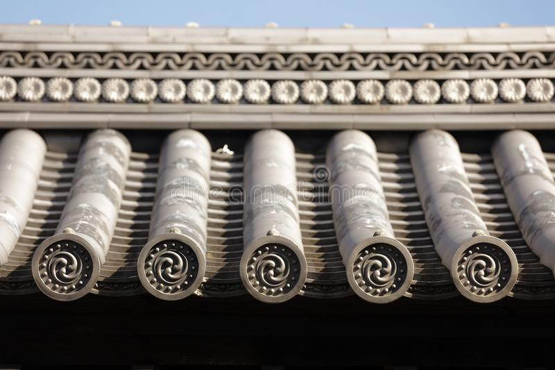 Japanese temple roof stock photos