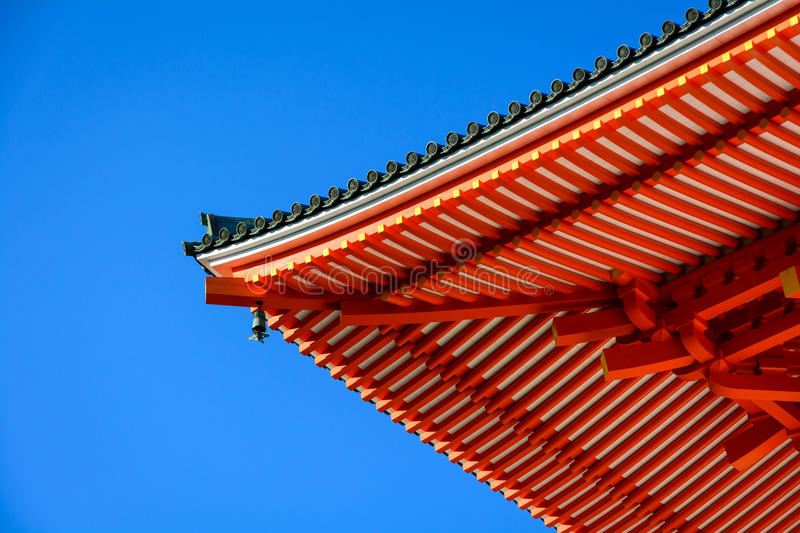 Japanese Temple Roof Detail royalty free stock photos