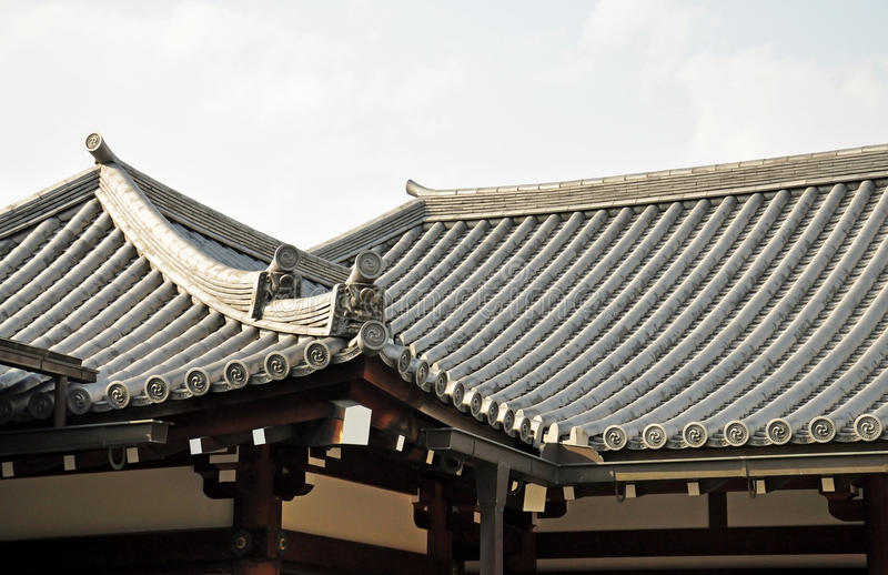 Japanese temple roof. Sanjusangendo Temple in Kyoto, Japan stock images