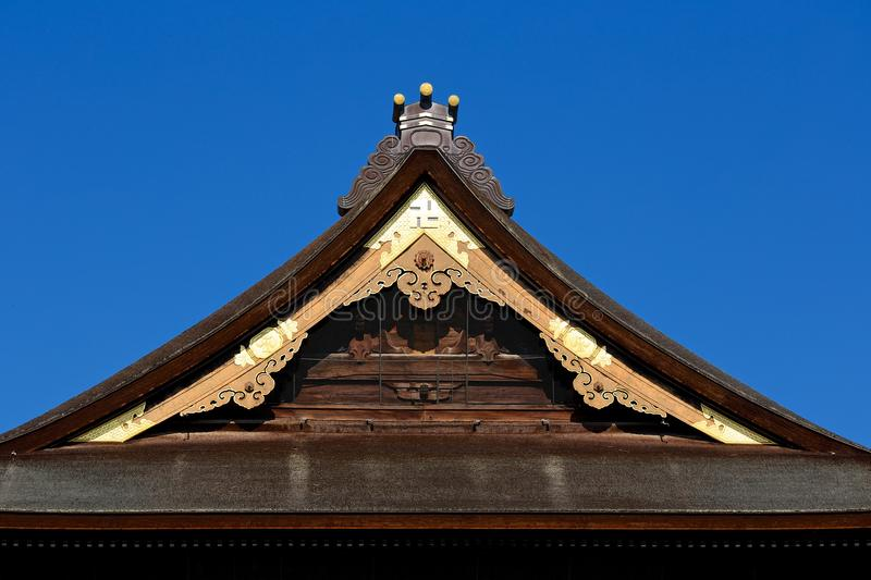 Japanese thatch roof. This picture is a beautiful Japanese thatch roof stock image