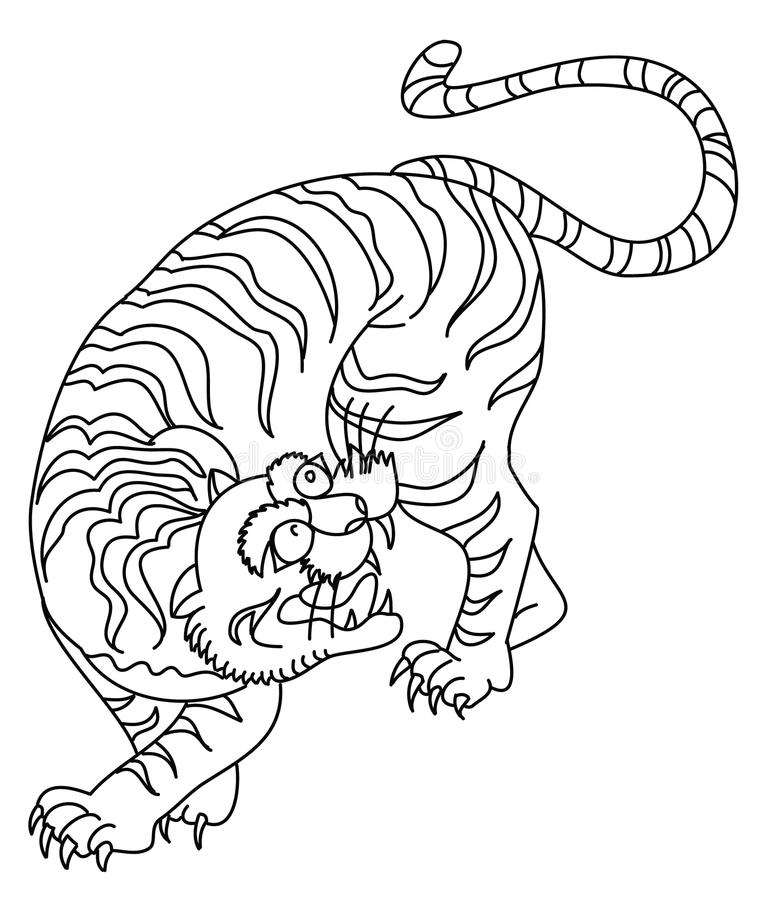 Aninimal Book: Japanese Tiger Tattoo Design Vector Stock Vector ...