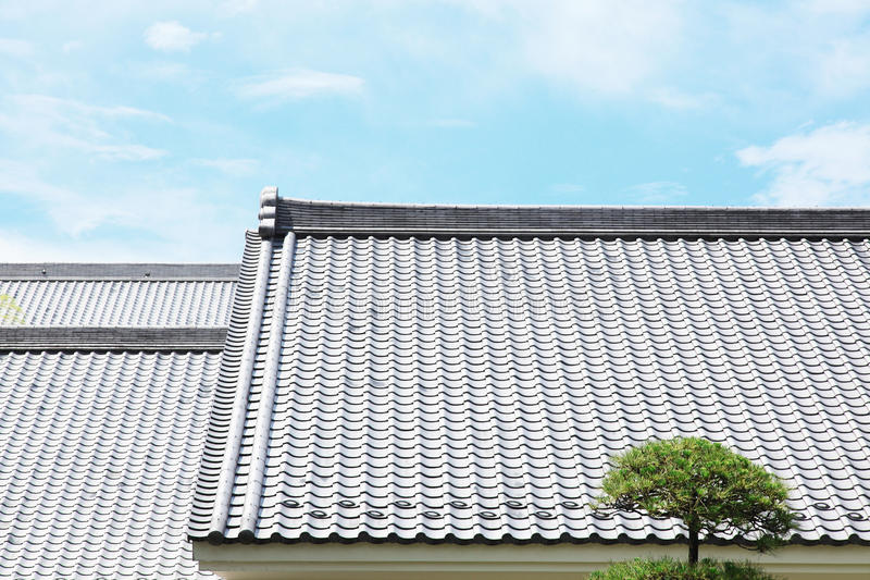 Download Japanese tiled roof stock photo. Image of close, closeup - 22784992