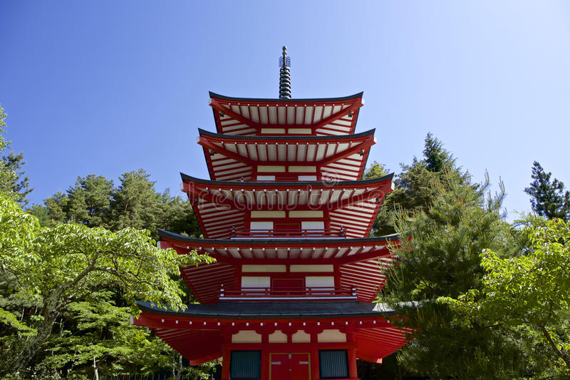 Japanese tower royalty free stock photo
