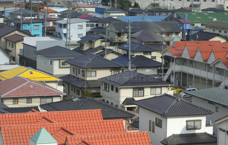 Japanese Town royalty free stock photos