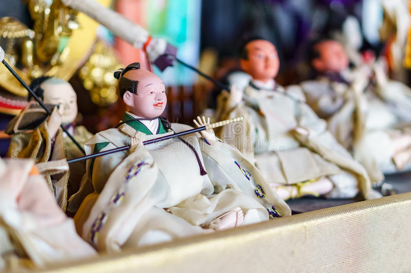 Japanese traditional dolls stock photo
