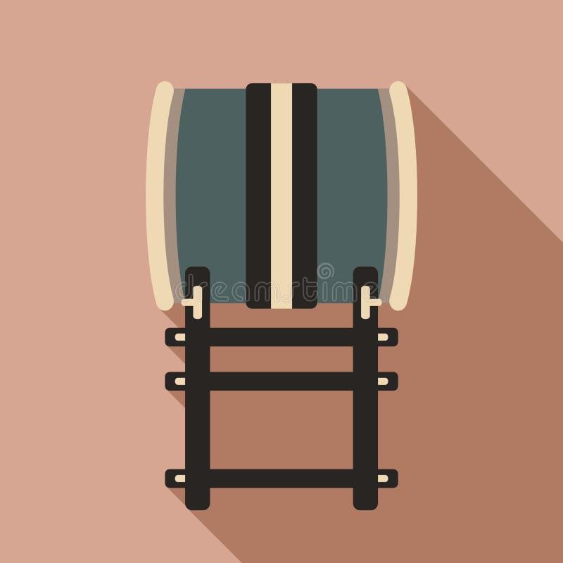Japanese traditional drum illustration stock illustration