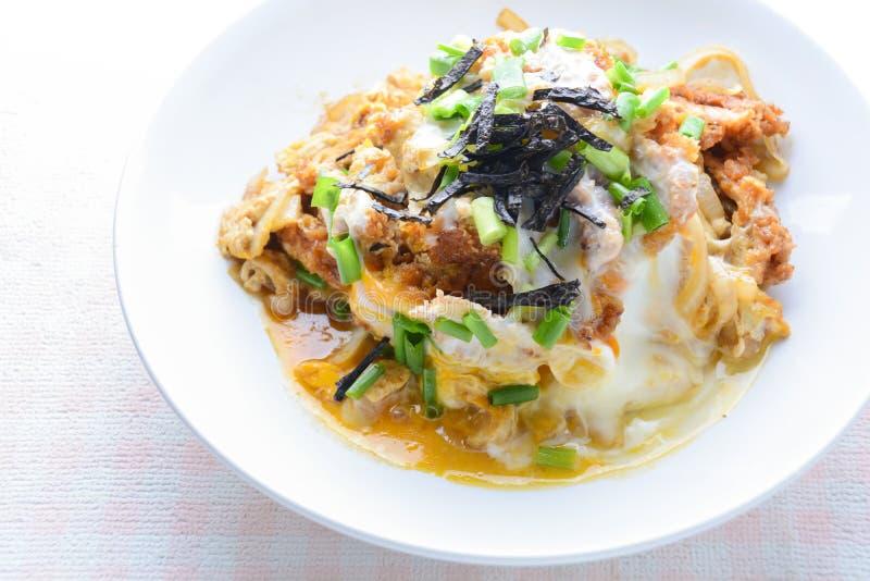 Japanese traditional food, Tonkatsu deep-fried pork cutlet stock images