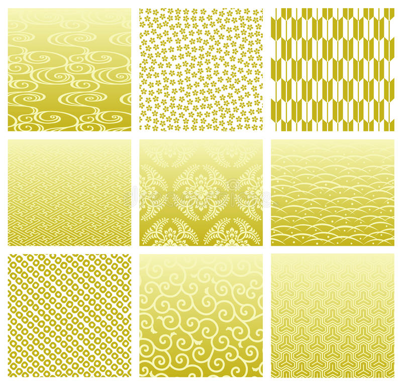 Download Japanese Traditional Patterns Stock Vector - Image: 16160772