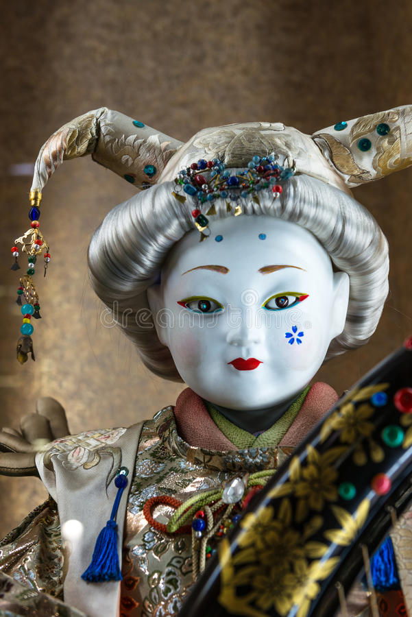 Japanese traditional porcelain doll stock photo