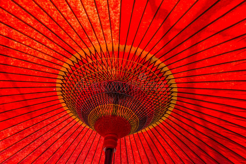 Japanese Traditional Umbrella Detail stock image
