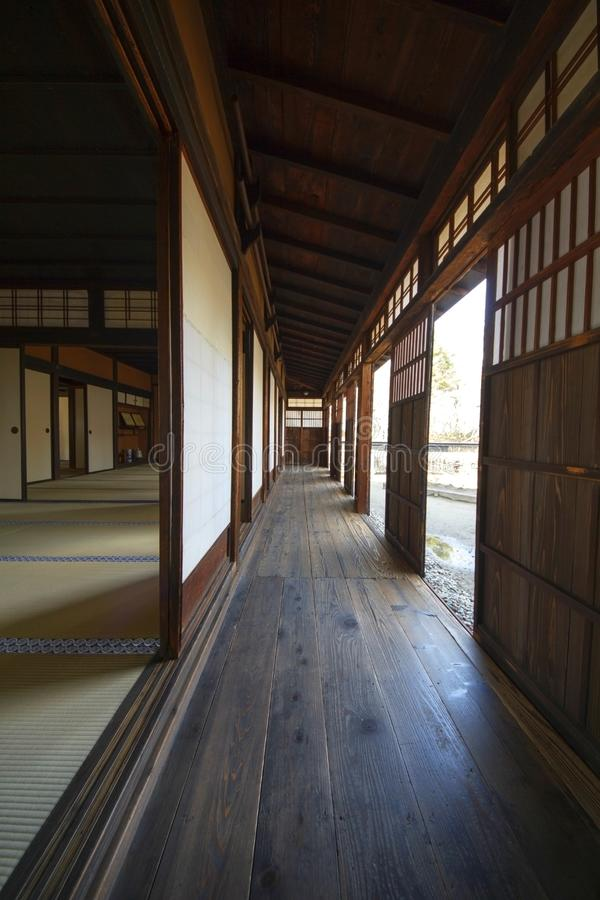 Japanese traditional wooden house interior stock images
