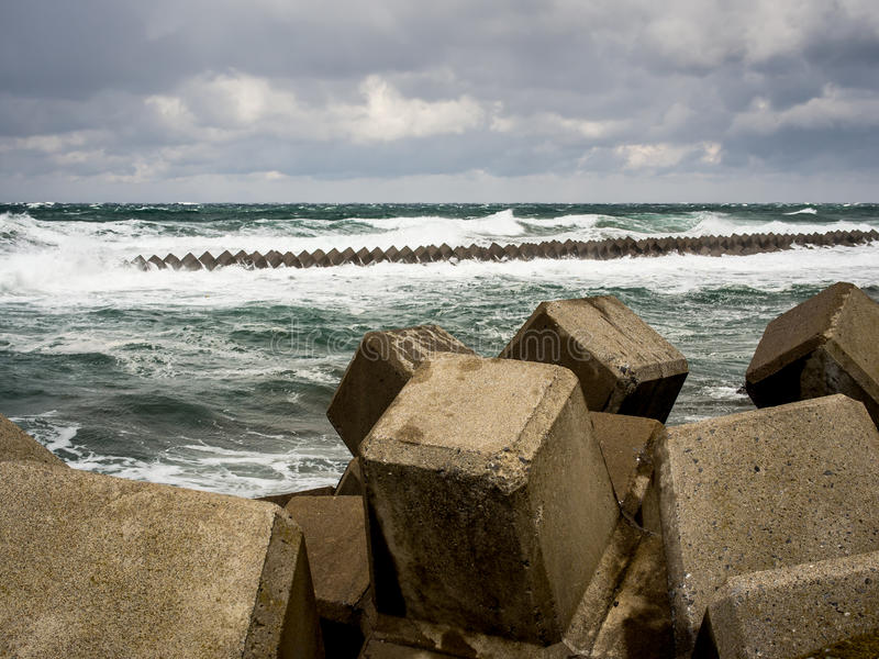 Download Japanese Tsunami barrier stock photo. Image of weather - 27739022