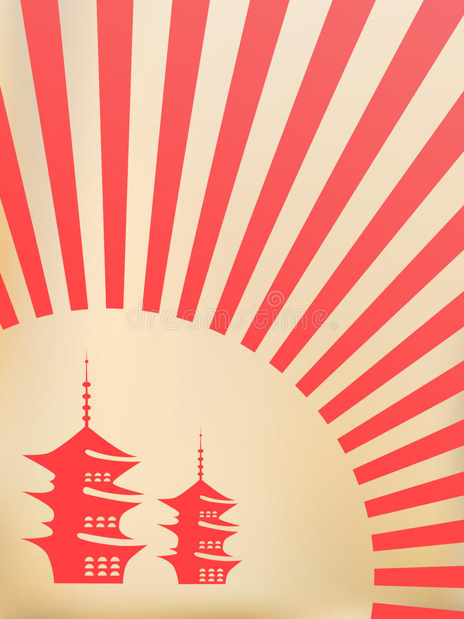 Download Japanese vector background stock vector. Image of card - 10774942