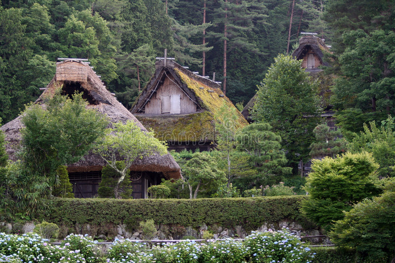 Japanese village stock images