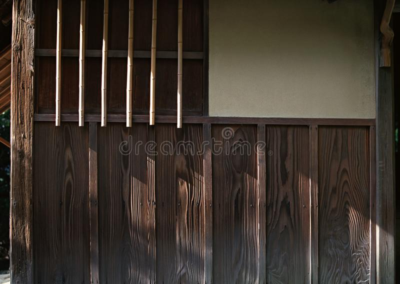 Japanese walls wooden work details background. Japanese walls wooden work texture details background royalty free stock image