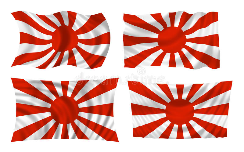 Japanese war flag stock photo