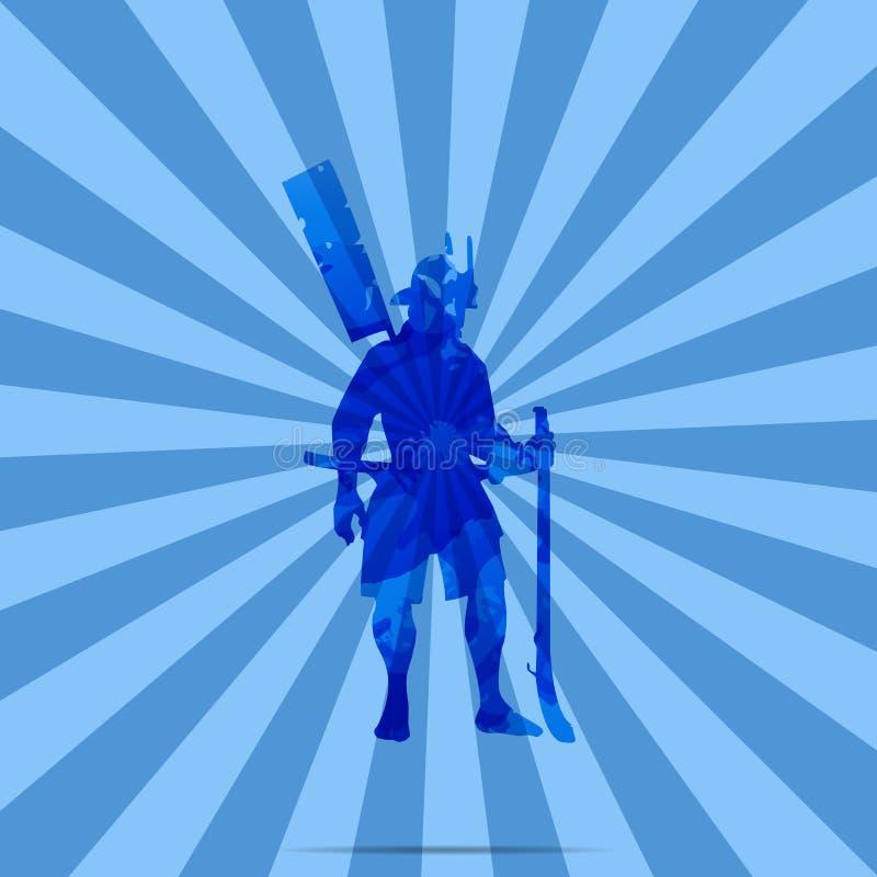 A Japanese Warrior, Marksman, Samurai.  royalty free illustration