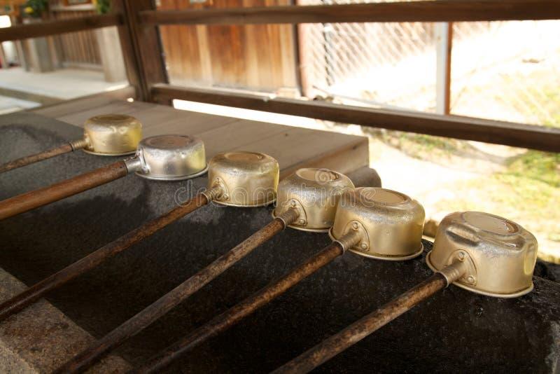 Japanese Water Ladles stock image