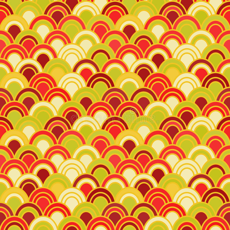 Japanese Wave Seamless Pattern royalty free illustration