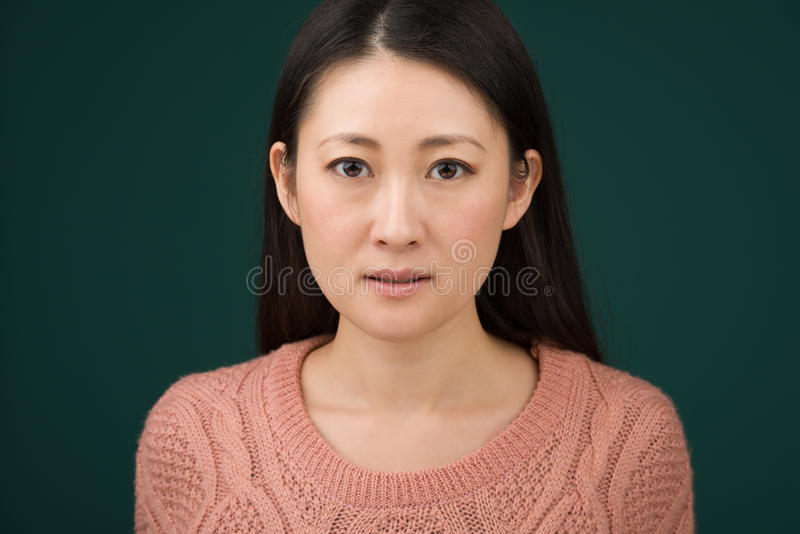 Japanese Woman Headshot stock photo