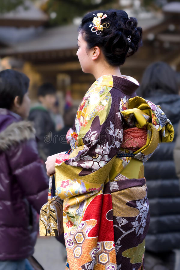 Free Japanese Woman Kimono Temple Royalty Free Stock Photography - 17613377