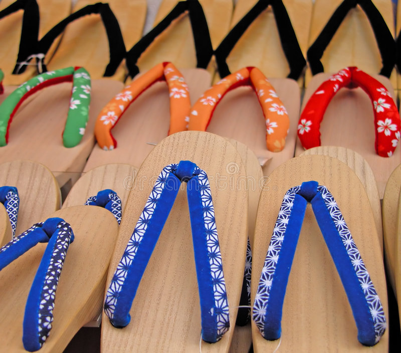Download Japanese Wooden Slippers Royalty Free Stock Photography - Image: 1845327