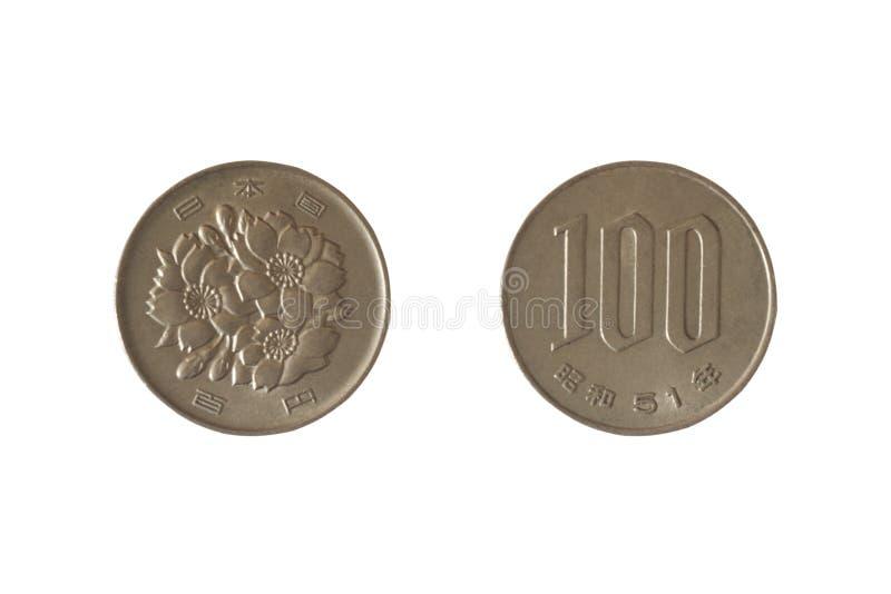 Japanese 100 yen coin. royalty free stock image