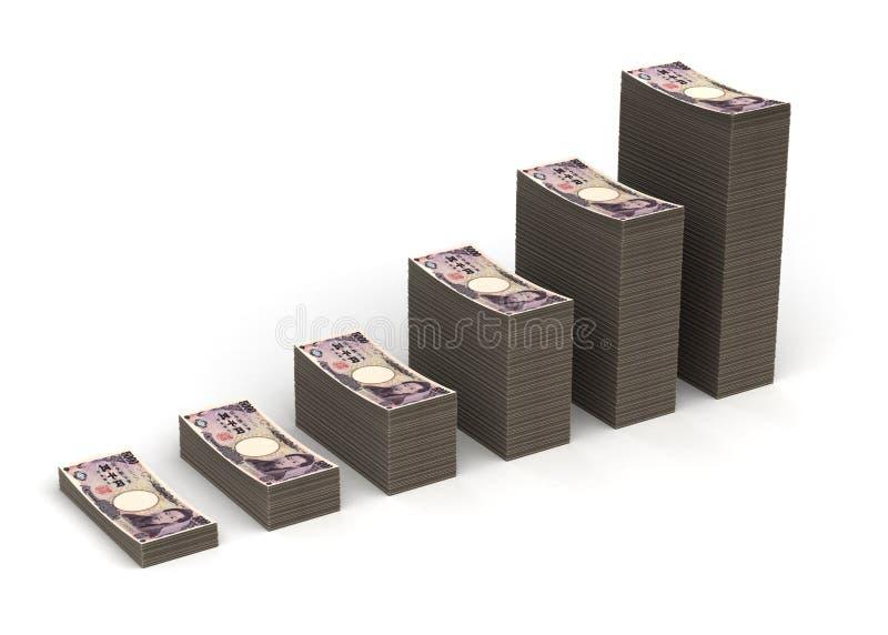 Japanese Yen Graph stock photography