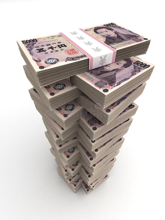 Japanese Yen Tower royalty free stock photography