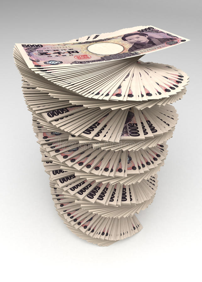 Japanese Yen Tower stock photography
