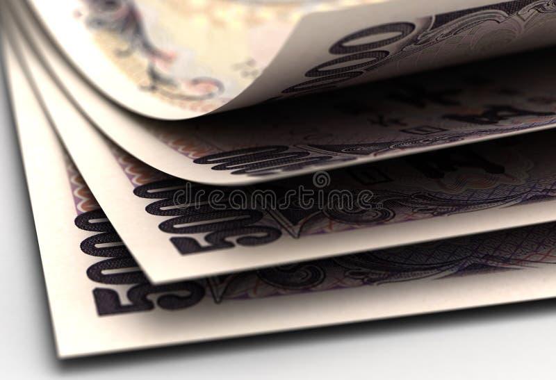 Japanese Yens Closeup stock photos