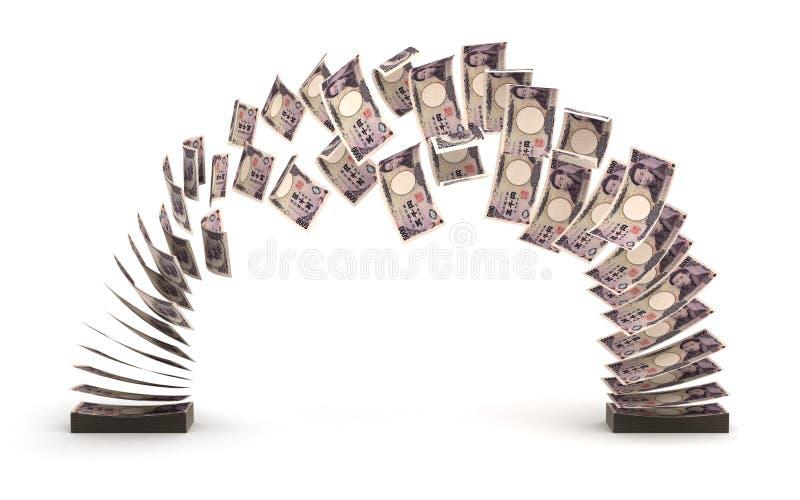 Japanese Yens Transfer stock photo