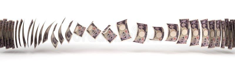 Japanese Yens Transfer royalty free stock image