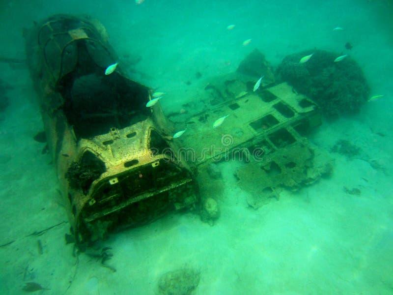 Japanese Zero Plane Wreck Ocean royalty free stock photo