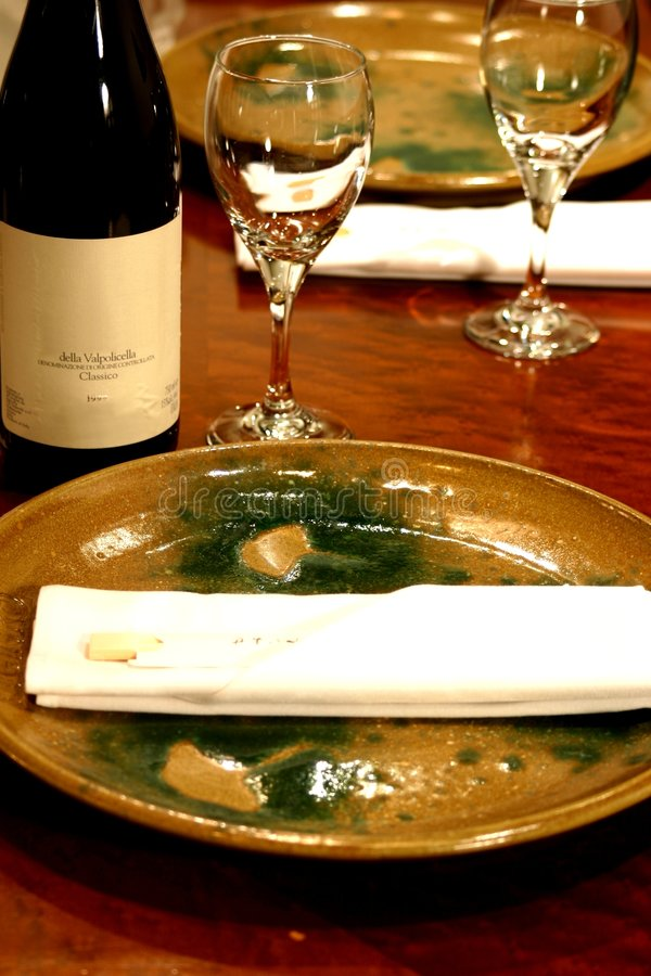 Japanische Abendessen-Platz-Einstellung stockbild