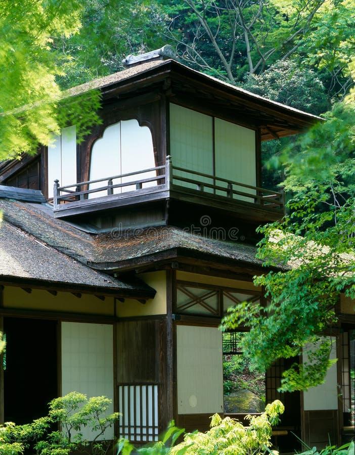 Japanische alte Villa lizenzfreies stockfoto