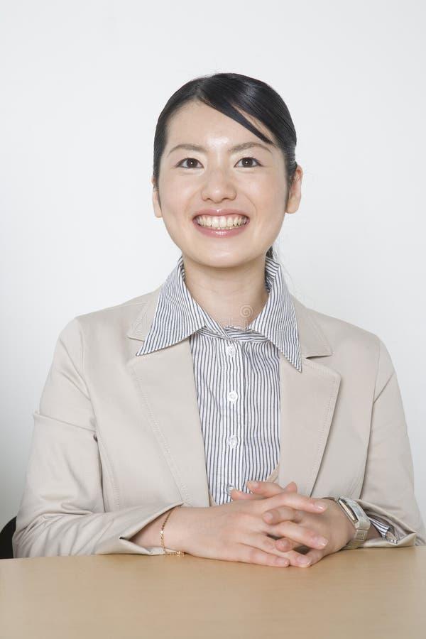 Japanische Bürodame stockfotografie