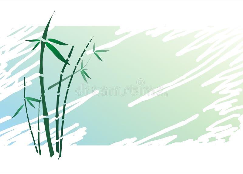 Japanische Bambusart auf strukturiertem Hintergrund lizenzfreie stockfotografie
