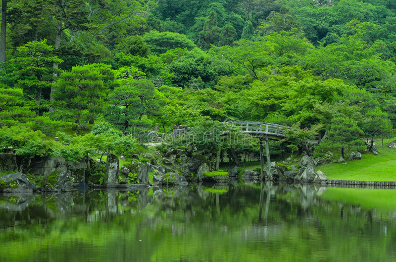 Japanische Brücke stockfotos